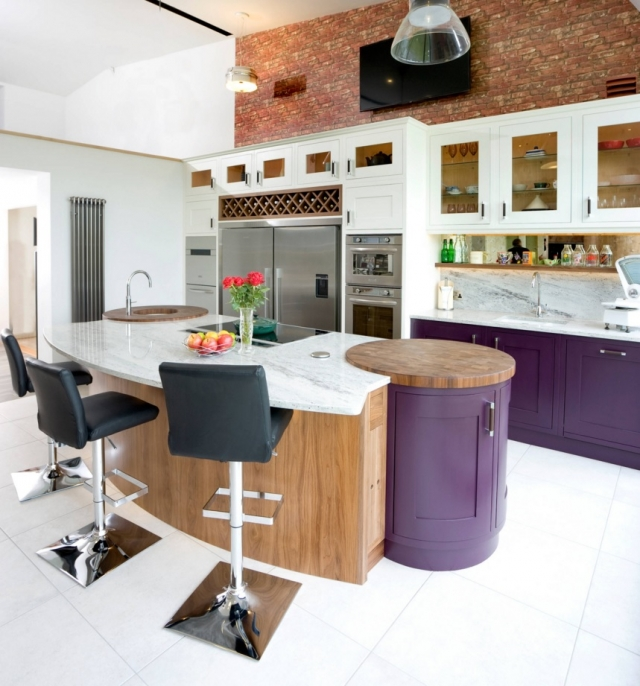 Modern Kitchen Designs  Purple Colour